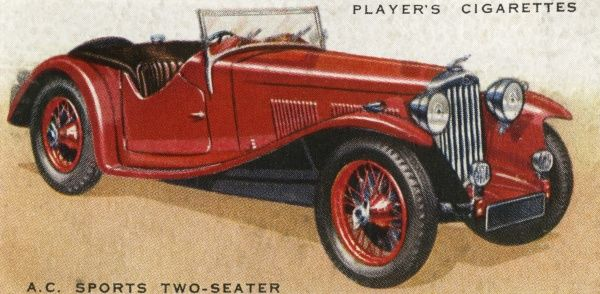 A.C.Sports Car. A.C. sports two-seater maximum speed 90 ...