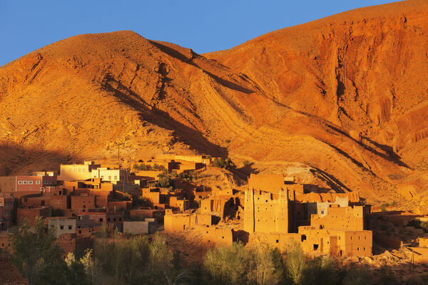 Kasbah in Gorges of Dades Valley, Dades Gorge, Morocco