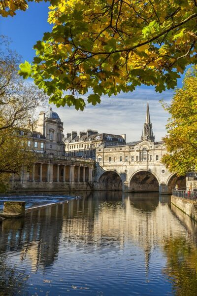 Pulteney Bridge, Bath, UNESCO World Heritage Site, Avon ...