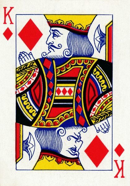 King of Diamonds from a deck of Goodall & Son Ltd. playing ...