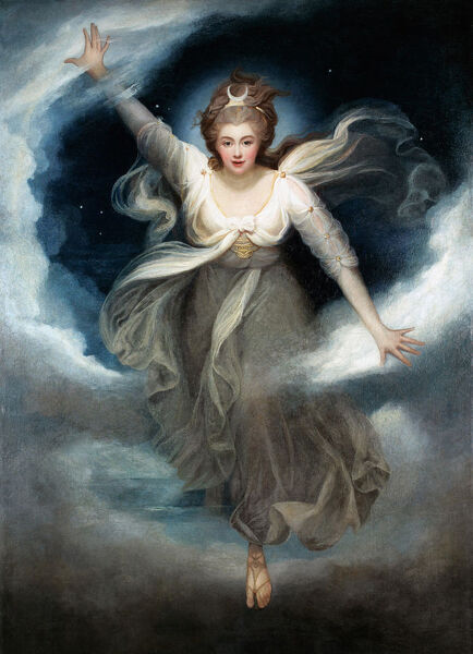 Georgiana as Cynthia from Spenser's 'Faerie Queene', 1781-82 (oil on canvas)
