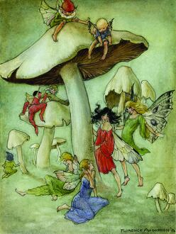 florence mary anderson/fairies toadstools