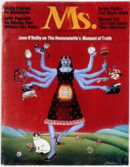 womens movement/ms magazine 1972 cover first issue ms magazine