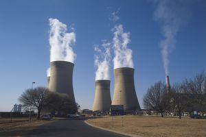 science technology/cooling towers coal fired hendrina power station
