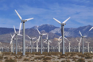 science technology/usa california coachella valley field wind