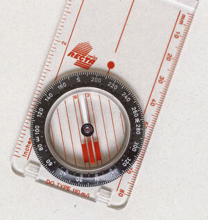 science technology/view magnetic compass needle points north south