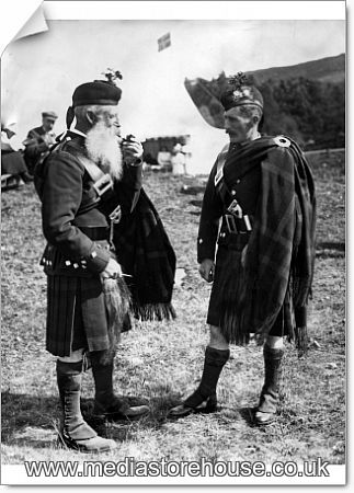 Photographic Print of Two Duff Highlanders at Braemar ...