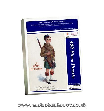 Jigsaw Puzzle of Patriotic Postcard WWI Young Highlander ...