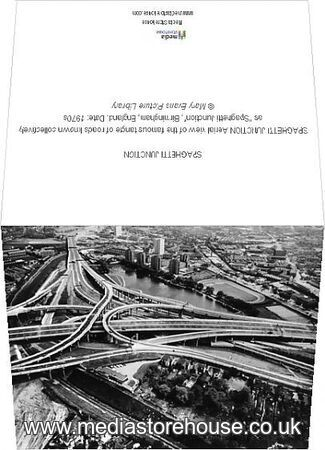 greeting card of spaghetti junction aerial view of the. Black Bedroom Furniture Sets. Home Design Ideas