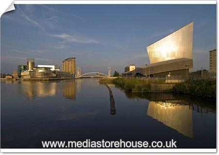 Poster Print Of Lowry Centre And Imperial War Museum North