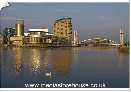 Poster Print Of Lowry Centre, Salford Quays, Manchester