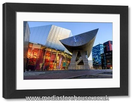 Framed Print Of The Lowry Centre Theatre At Dawn, Salford