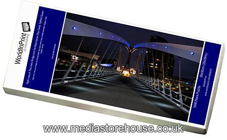 Jigsaw Puzzle Of Night View Of The Lowry Bridge Over The