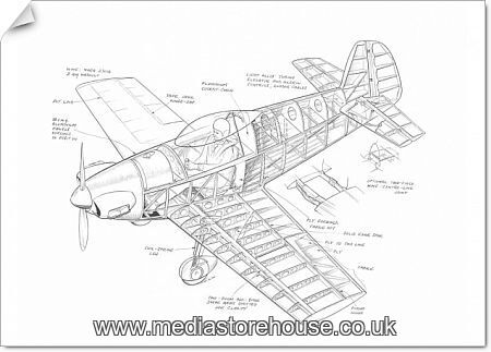 photographic print of taylor titch cutaway drawing  4826220