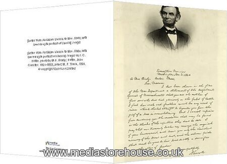 letter abraham lincoln mrs bixby greeting card of letter from abraham lincoln to mrs 13109