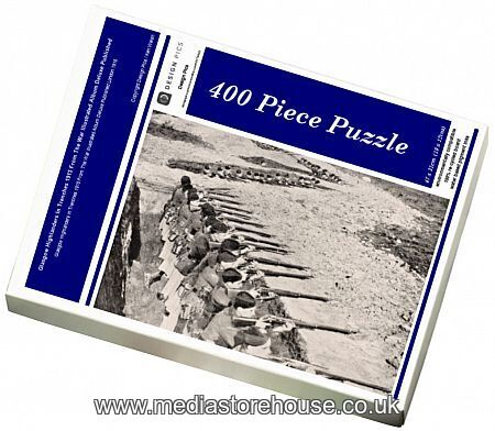 Jigsaw Puzzle of Glasgow Highlanders In Trenches 1915 From ...